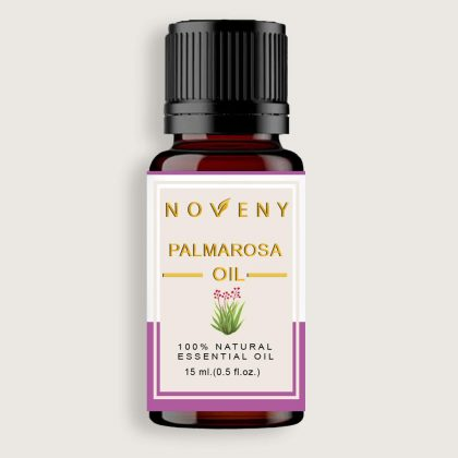 Noveny Palmarosa Essential Oil 100% Pure & Natural, Therapeutic Grade, For Skin Care, Anti-Aging, Pain Reliever, Insect Repellent & Aroma Diffuser