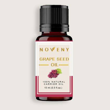 Noveny Grapeseed Cold- Pressed Oil 100% Pure & Natural For Face care & Acne control, Hair care, Foot care, Anti-aging & Skin nourishment