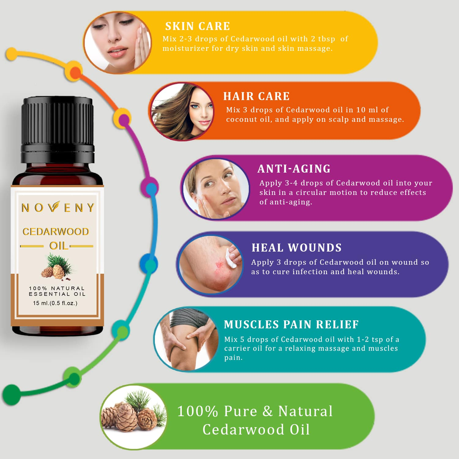 Cedarwood Essential Oil Cedarwood Oil For Muscles Pain Relief Hair Care
