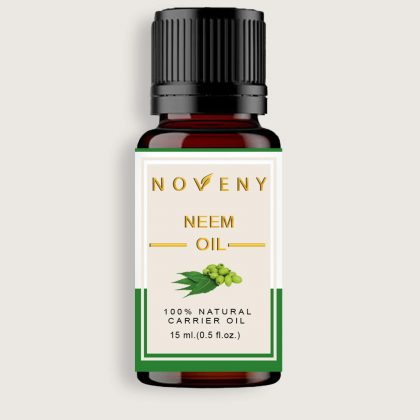 Noveny Neem Cold-Pressed Oil 100% Pure & Natural, For Skin Care & Acne control, Hair growth, Anti-aging & Muscles pain relief